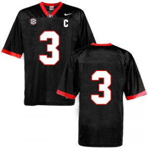 Youth Nike Georgia Bulldogs NO. 3 Limited Black Football Jersey