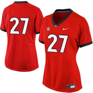 Women's Nike Georgia Bulldogs NO. 27 Limited Red Football Jersey